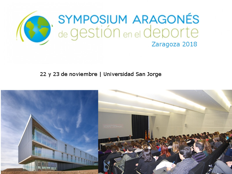 El Symposium Aragonés de Gestión en el Deporte, encuentro de expertos del sector de la gestión y del deporte organizado por GEDA, se celebrará en Zaragoza los días 21 y 22 de noviembre.