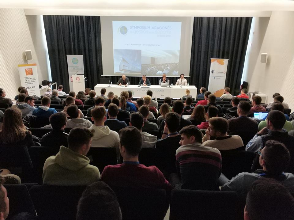 Los días 22 y 23 de noviembre se celebró en la Universidad San Jorge de Zaragoza el V Symposium Aragonés de Gestión en el Deporte, evento organizado por la Asociación de Gestores del deporte de Aragón (GEDA).