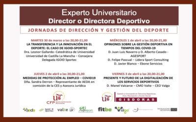 Jornadas de Dirección y Gestión del Deporte online