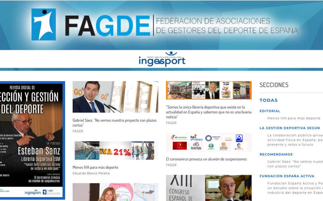 Nueva cabecera para la revista de FAGDE